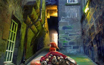 Bagpiper From Trunks Close, Edinburgh